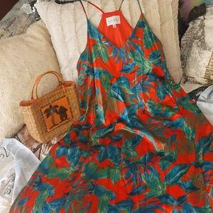 Beautiful Spaghetti Strap Hawaiian Dress